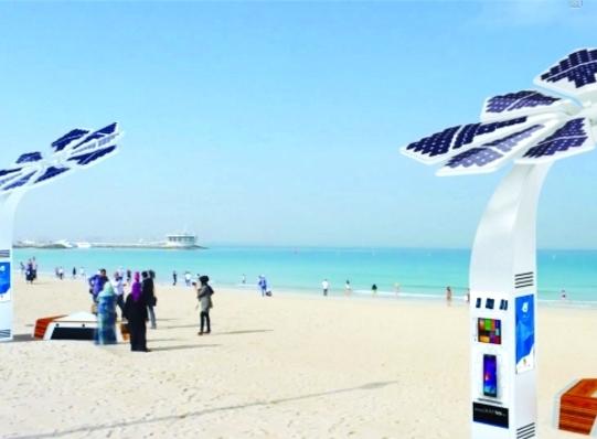 النخلة الذكية تزود حدائق دبي بالانترنت المجاني