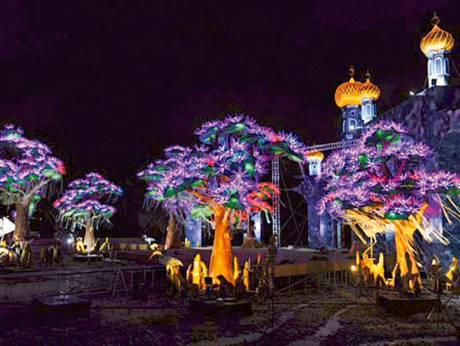 حديقة دبي جاردن جلو أول حديقة متوهجة في العالم عين دبي