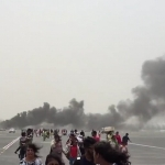 بالفيديو .. تفاصيل الحريق في طائرة إماراتية بمطار دبي